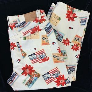 Tommy Hilfiger Vintage Cropped Pants Postcards 12